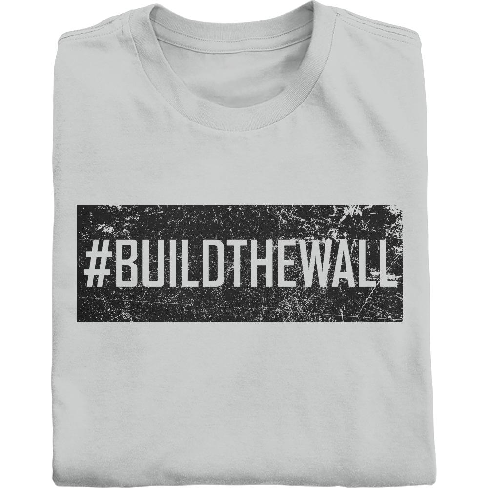 #BUILDTHEWALL in vintage black shirt