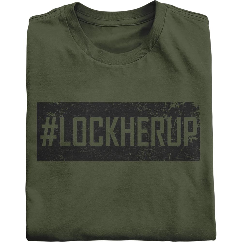 #LOCKHERUP in vintage black shirt